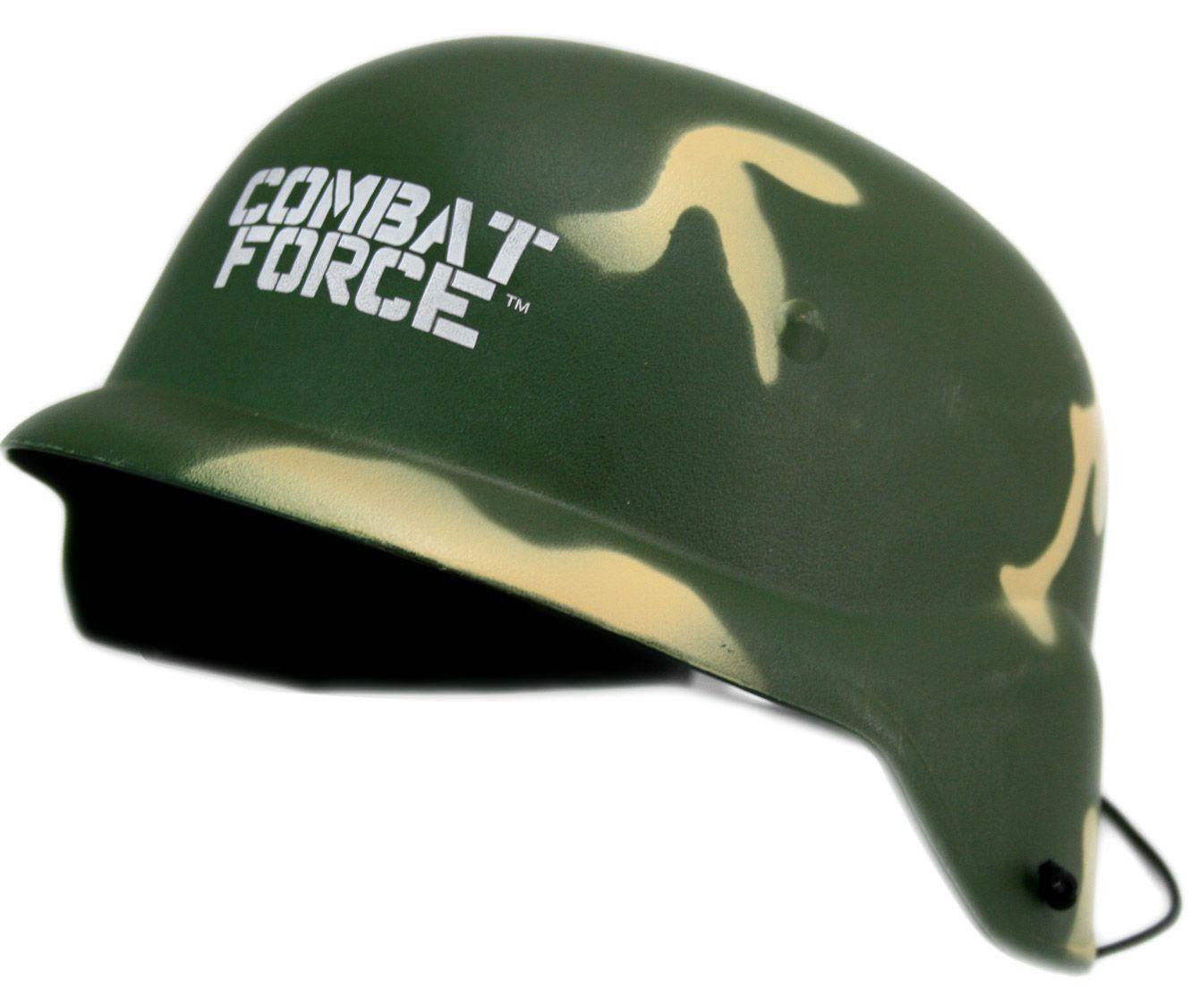 COMBAT FORCE CAMOUFLAGE ARMY KIDS CHILDRENS PLAY TOY HELMET hard plastic