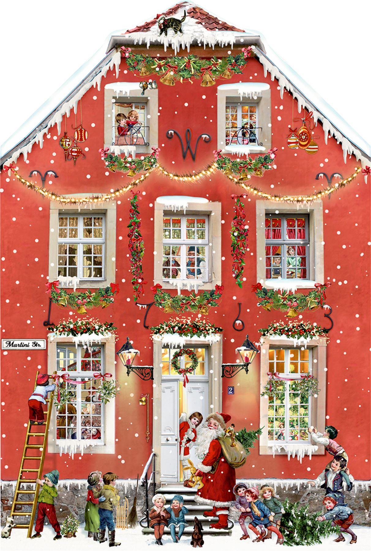 Deluxe Traditional Card Advent Calendar - Party At The