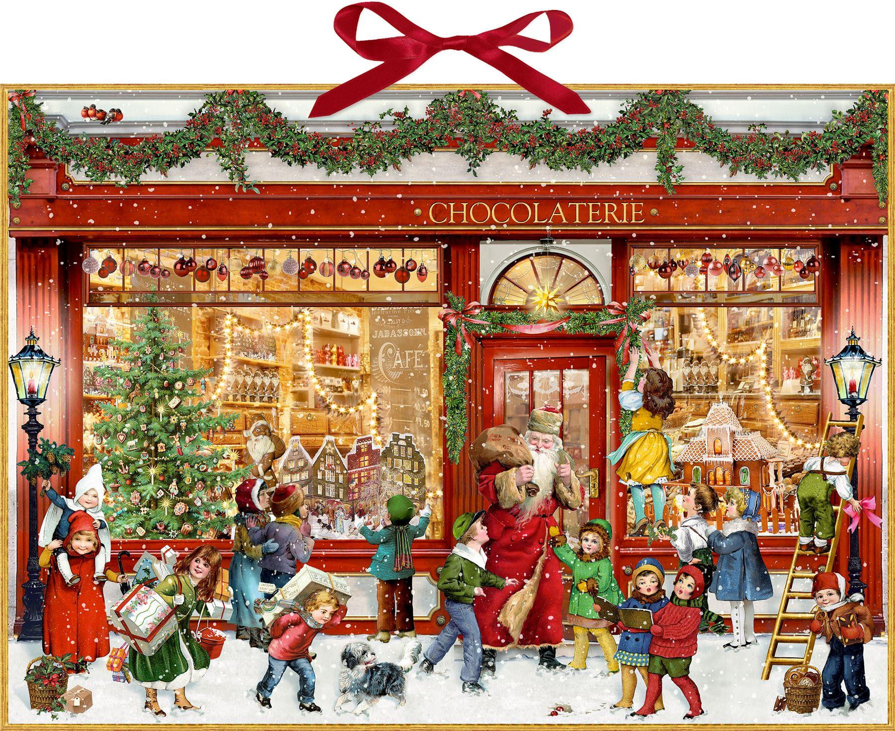 Deluxe Traditional Card Advent Calendar Large - The