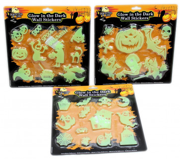 Haunted House Halloween Fluorescent Luminous Glow In The Dark Wall Stickers For Children Party Decoration ~ Design Vary