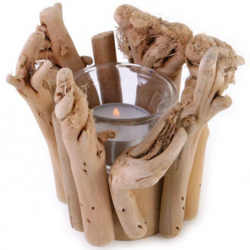Wildwood Driftwood Single Tealight Candle Holder