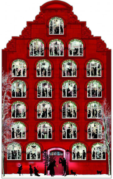 Deluxe Traditional Card Advent Calendar Large - Nostalgic Christmas House