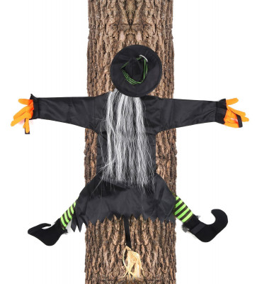 Crashing Witch Hanging Halloween Decoration Party Garden Tree Hanger