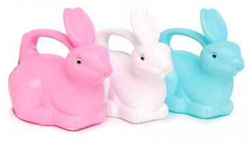 Children's Bunny Rabbit Plastic Watering Can Gardening Toy ~ Colour Varies