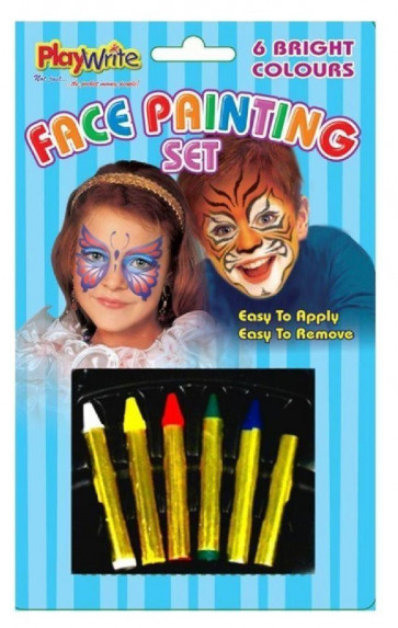 Playwrite Face Painting Set For Children And Parties With 6 Colours Face Paints