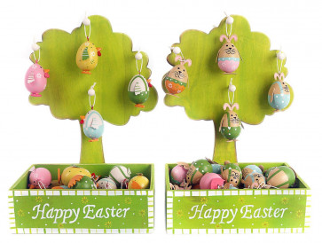Hanging Easter Ornament Egg Chicken Hen Chick Decoration ~ Colour Vary