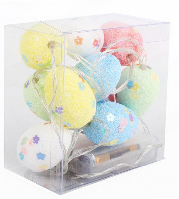 Set Of 10 Battery Operated Easter Egg Fairy Lights ~ Led Hanging Garland Chain