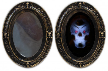 Haunted House Battery Operated Sound And Motion Activated Halloween Horror Mirror