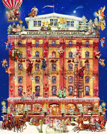 Deluxe Traditional Card Advent Calendar Extra Large - House In A Christmas Dream