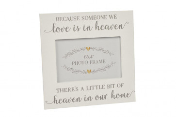 White Wooden In Loving Memory Heaven Photo Frame ~ In heaven Picture Frame
