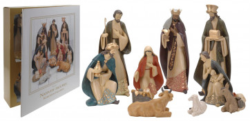 Deluxe Christmas Nativity Set - Extra Large Luxury Traditional Crib Scene With 10 Beautiful Detailed Figures