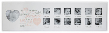 1St Year Poem Photo Frame ~ Pink Photo Frame Babys First Year