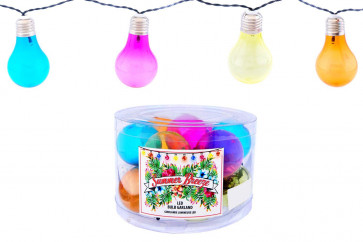Summer Breeze 10 Multi Coloured Festoon Lights LED Bulb Garland Light String