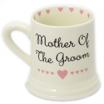 Boxed Ceramic Heart Wedding Favour Gift Mug ~ Mother Of The Groom