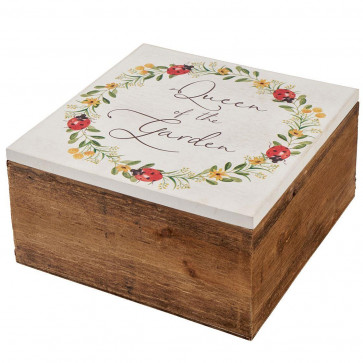 Queen Of The Garden Wooden Gardening Storage Box - Ideal Mothering Sunday Mother's Day Gift