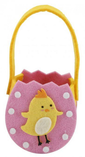 Easter Mini Felt Egg Hunt Bag ~ Easter Chick Felt Basket