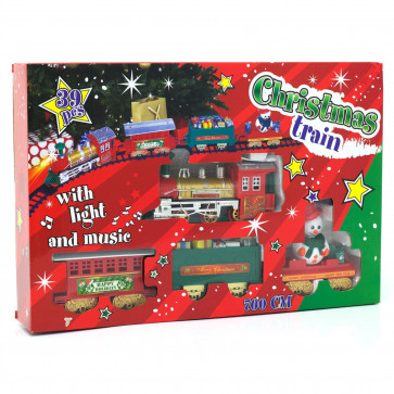 7m Musical Christmas Train Toy | 22 Feet Under Tree Train Set | Battery Xmas Tree Ornament Decoration Toy