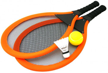 Jumbo Soft Tennis Set With Shuttlecock - Orange