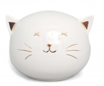 Cute Kitty Cat Ceramic Piggy Bank Money Box