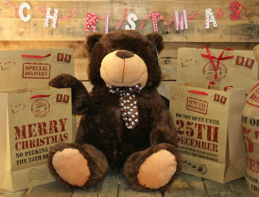 Extra Large 80Cm Super Cuddly Plush Giant Sitting Teddy Bear Soft Toy - Brownie