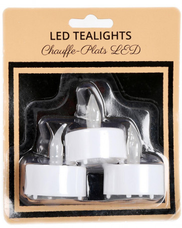 Pack Of 3 Led Votive Flameless Battery Operated Candles