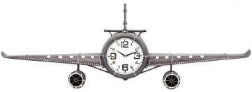 Large Iron Metal Aeroplane Plane Wall Clock 143cm x 20cm x 46cm