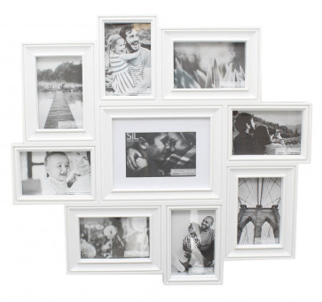Stunning 9 Multi Aperture Photo Frame Collage Display Picture Frame ~ White