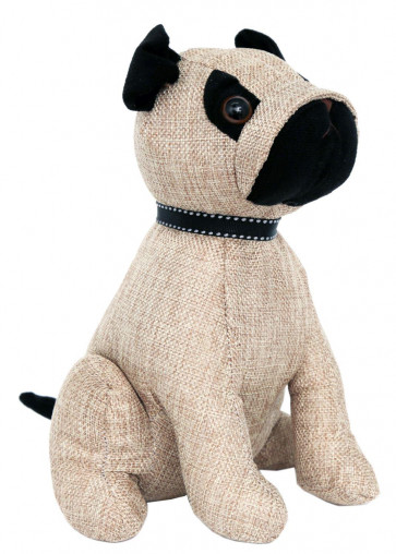 Delightful Pug Fabric Doorstop - Novelty Dog Animal Door Stop