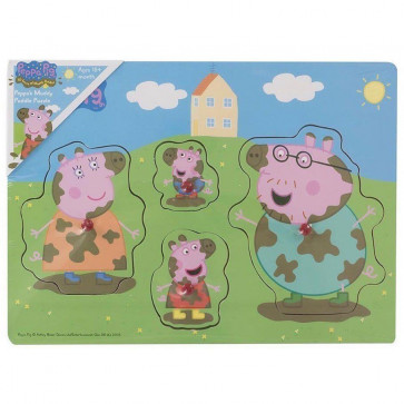 Peppa Pig Muddy Puddle Puzzle ~ Peg Puzzle For Toddlers