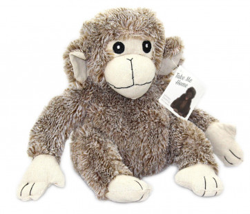Take Me Home Fluffy Monkey Doorstop ~ Mocha Chimp Wildlife Animal Novelty Door Stop