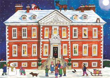 Alison Gardiner Traditional Card Advent Calendar Large - Country House Christmas