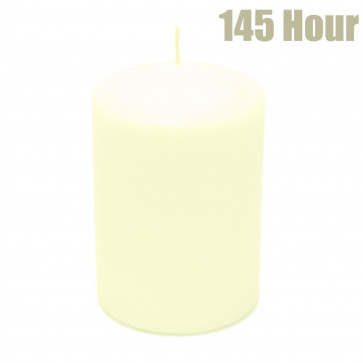 145 Hour Cream Votive Pillar Candle - Ivory Wax Church Candle