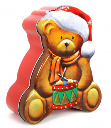 Christmas Design Food Storage Biscuit Cookie Gingerbread Mince Pie Tin - Bear