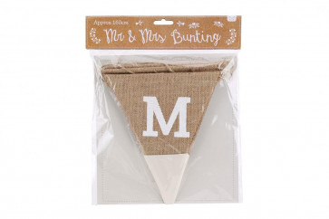 Mr And Mrs Husband And Wife Love Just Married Jute Bunting For Wedding Honeymoon