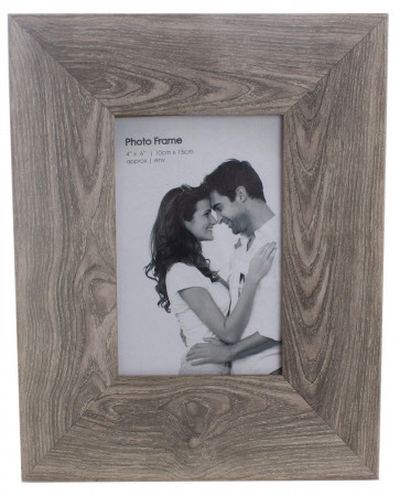 Simple & Stylish Plain Driftwood Chunky Wooden Effect Picture Photo Frame 4 x 6