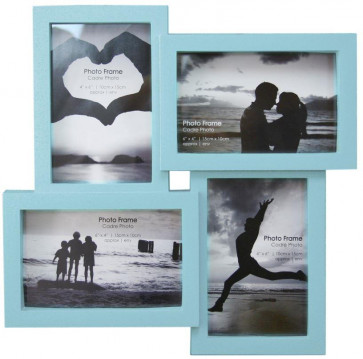 4 Multi Tonal Plastic Photo Frame - Taupe