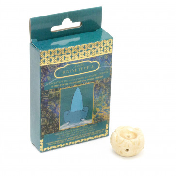15 Backflow Incense Cones And Ceramic Burner | Waterfall Back Flowing Incense Cones With Holder | Aromatherapy Burner - Jasmine