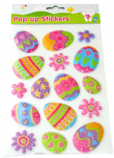 Easter Pop Up Stickers - Easter Egg And Flower Easter Decoration