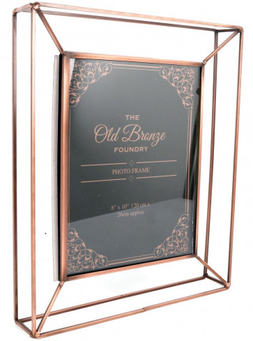 The Old Bronze Foundry Copper Style Wire Box Frame ~ Freestanding Photo Frame 8 X 10