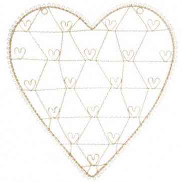 Shabby Chic Vintage White Wire Heart Memo Card Photo Holder Wall Hanging Decoration