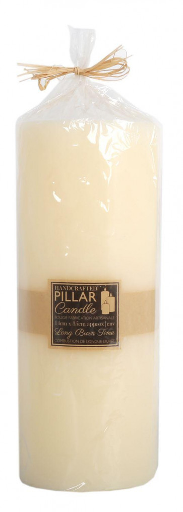 Jumbo 3 Wick 35cm x 14cm Pillar Candle - Handcrafted Ivory Wax Extra Large Church Candle