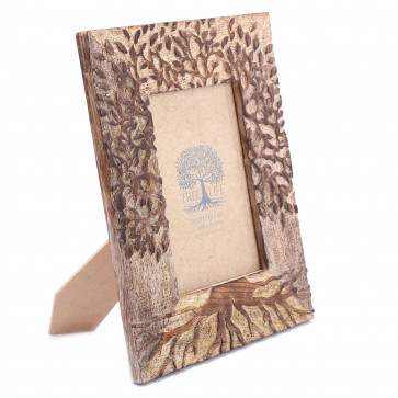 4x6 Tree Of Life Photo Frame | Freestanding Wooden Single Aperture Picture Frame | 10 x 15cm Photo Holder