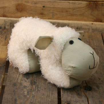 Sheep Door Stop ~ White Sheep Doorstop