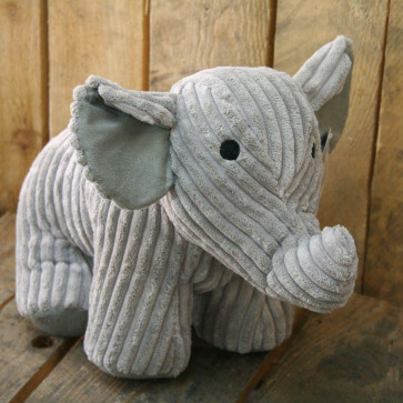 Take Me Home Doorstop Ribbed Fabric Elephant Door Stop