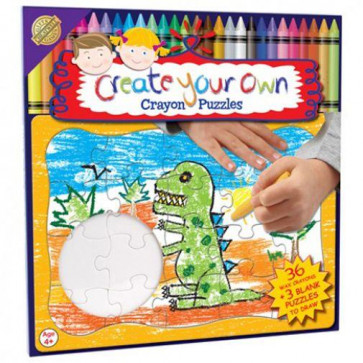 Cheatwell Games Create Your Own Crayon Puzzle ~ Make Your Own Puzzle Dinosaur