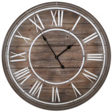 Stunning Shabby Chic Wooden Wall Clock 80Cm