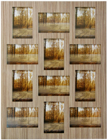 Wood Veneer Multi Aperture Photo Frame