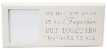 Freestanding Wall Hanging Shabby Chic Wooden Quote Picture Photo Frame 3 X 3 ~ Together