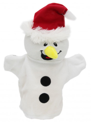 Festive Christmas Plush Hand Puppet Soft Toy - Snowman