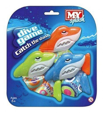 MY Splash Dive Game Catch The Sharks Diving Sinking Swimming Pool Toy